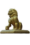Porcelanowa lew statua Obrazy Stock