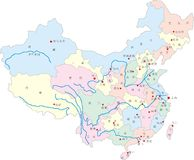 porcelanowa mapa Fotografia Stock