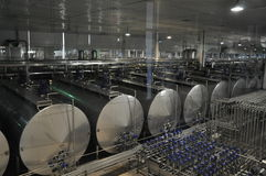 Porcelanowa Mengniu nabiału linia produkcyjna Obraz Stock