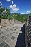 Porcelanowa Mutianyu wielkiego muru sceneria Obraz Stock