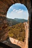 Porcelanowa Mutianyu wielkiego muru sceneria Zdjęcia Stock