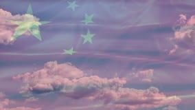 Porcelanowa niebo flaga