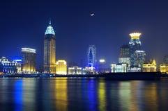porcelanowa noc Shanghai linia horyzontu Zdjęcia Royalty Free