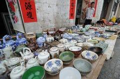 Porcelanowa orientalna sztuka, rzemiosło & prezenty Zdjęcia Stock