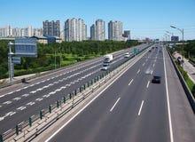 Porcelanowa Pekin Miasta Droga i Autostrada fotografia stock