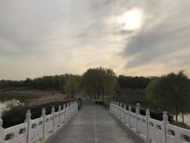 Porcelanowa Pekin Nanhaizi Parkowa pi?kna sceneria fotografia royalty free