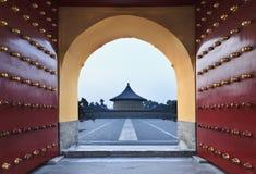 Porcelanowa Pekin Niebiańska brama Zdjęcie Stock