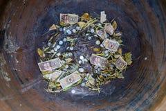 Porcelanowa ` s waluty trevi fontanna Fotografia Royalty Free