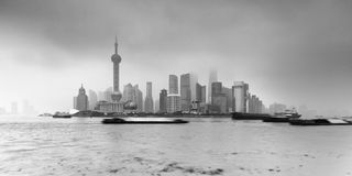 Porcelanowa Shanghai Pudong Ustalona niecka Fotografia Stock