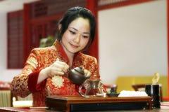porcelanowa sztuki herbaty Fotografia Royalty Free