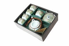 porcelanowa ustalona herbata Obrazy Stock