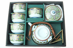 porcelanowa ustalona herbata Zdjęcia Royalty Free