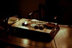 porcelanowa ustalona herbata Zdjęcie Royalty Free