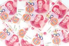 Porcelanowa waluta w białym tle Zdjęcia Royalty Free