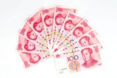 Porcelanowa waluta w białym tle Fotografia Royalty Free
