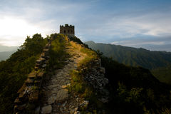 porcelanowa wielka jiankou ściany wieża obserwacyjna zdjęcie royalty free