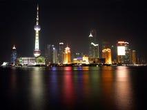 porcelanowe 2 wieży Shanghai pearl widok zdjęcia royalty free