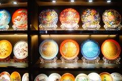 Porcelanowe porcelany wystawy sprzedaże Obraz Stock