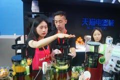Porcelanowe Shenzhen elektronika użytkowa i domowi urządzenia oznakują wystawę Zdjęcie Stock