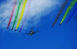 porcelanowego dzień militarna krajowa parada zdjęcia royalty free