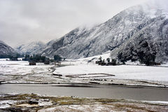 porcelanowego losu angeles shangri śniegu porcelanowa widok wioska Zdjęcia Royalty Free