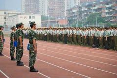 Porcelanowego studenta collegu szkolenia wojskowego staranna stacja 22 Fotografia Royalty Free