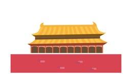 porcelanowej bramy nadziemski pokój Tiananmen ilustracji