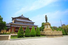 porcelanowej Guangzhou sala pamiątkowy sen Słońce Yat Zdjęcia Stock
