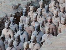 porcelanowi terakotowi wojownicy Xian Zdjęcie Stock