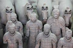 porcelanowi terakotowi wojownicy Xian Zdjęcia Royalty Free