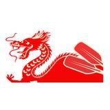 Porcelanowy łódkowaty festiwal Smok jako symbol Chińska kultura ilustracja wektor