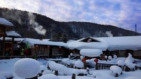 Porcelanowy Śnieżny miasteczko Zdjęcie Royalty Free