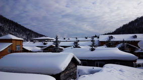 Porcelanowy Śnieżny miasteczko Zdjęcia Stock