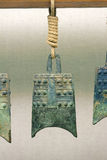 Porcelanowy antyczny chime dzwon obraz stock