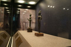 Porcelanowy Azja, Pekin kapitałowy muzeum, Kampuchea Angkor relikwie i sztuki wystawa, Zdjęcie Royalty Free