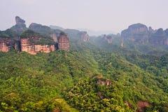 porcelanowy danxia geologii Guangdong góry parka świat Obraz Royalty Free
