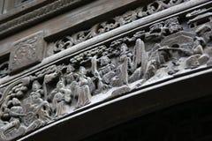 Porcelanowy drewniany cyzelowanie Zdjęcie Stock