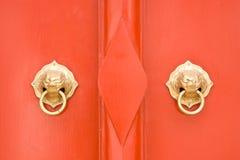 porcelanowy drzwi Zdjęcia Royalty Free