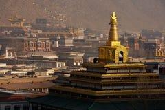 porcelanowy Gansu gongu labrang monasteru prowinci dębnik Obrazy Stock