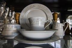 Porcelanowy Glassware życie Zdjęcia Royalty Free