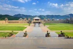 Porcelanowy Han Qin pałac Zdjęcia Royalty Free