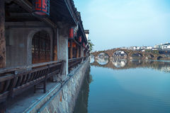 Porcelanowy Hangzhou Tangqi miasteczko Obraz Royalty Free