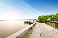 Porcelanowy Hangzhou Zachodni Jeziorny afterglow Obraz Royalty Free