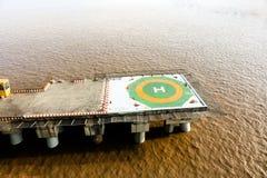 Porcelanowy Hangzhou zatoki mosta helikopteru fartuch zdjęcie stock