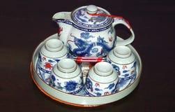 Porcelanowy herbata set Porcelanowy crockery Zdjęcie Royalty Free