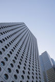 Porcelanowy Hong Kong niskiego kąta widok drapacze chmur Fotografia Stock