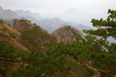 Porcelanowy Huangshan obrazy royalty free