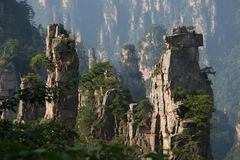 porcelanowy Hunan halny porvince kamień Fotografia Royalty Free