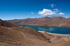 porcelanowy jeziorny Tibet Fotografia Stock