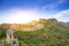 Porcelanowy Jinshanling wielki mur w Hebei Zdjęcie Stock